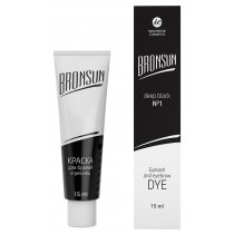 Eyelash and eyebrow dye Bronsun, deep black №1 15 ml