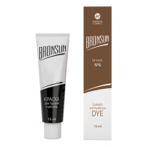 Eyelash and eyebrow dye Bronsun, classical brown №6 15 ml