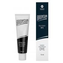 Eyelash and eyebrow dye Bronsun, blue-black №3, 15 ml