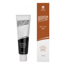 Eyelash and eyebrow dye Bronsun, light brown  №5 15 ml