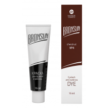 Eyelash and eyebrow dye Bronsun, chestnut №4, 15 ml